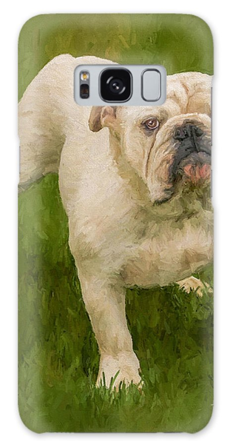 Dog Galaxy S8 Case featuring the painting Bruce The Bulldog by David Wagner