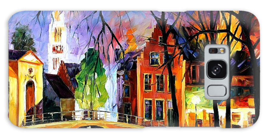 Afremov Galaxy S8 Case featuring the painting Bruges Belgium by Leonid Afremov