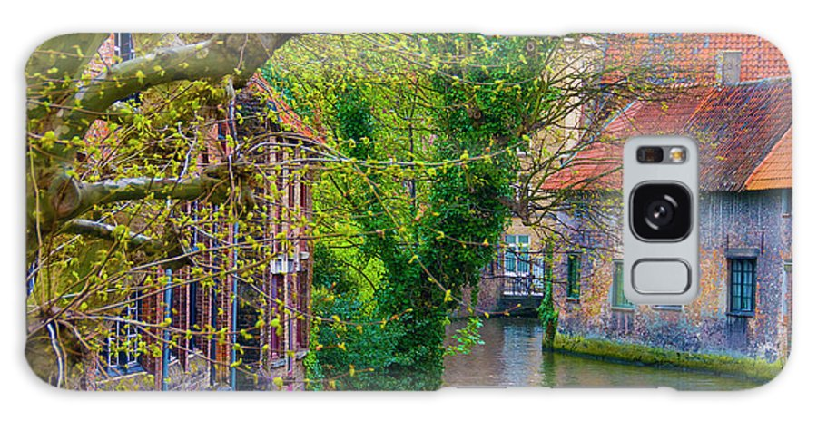 Bruges Fall Colour Belgium River Europe House Tree Water Waterway City Galaxy S8 Case featuring the photograph Bruges by Pat Bourque