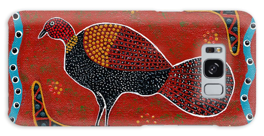 Brushturkey Galaxy Case featuring the painting Brush Turkey by Clifford Madsen