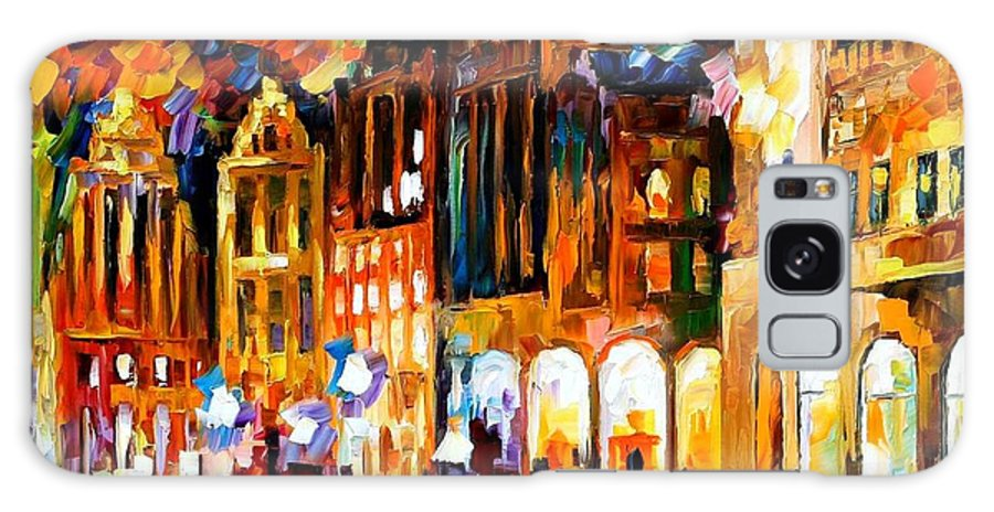 Afremov Galaxy S8 Case featuring the painting Brussels by Leonid Afremov