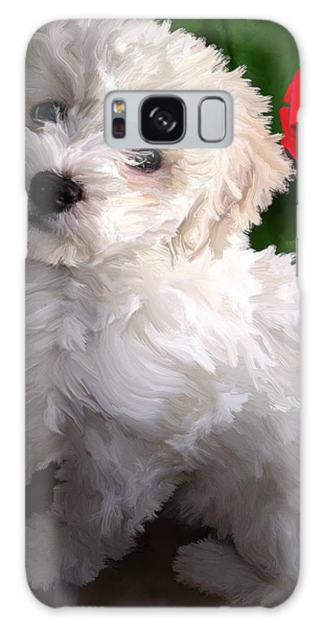 Bichon Friese Galaxy Case featuring the painting Bryce by David Wagner