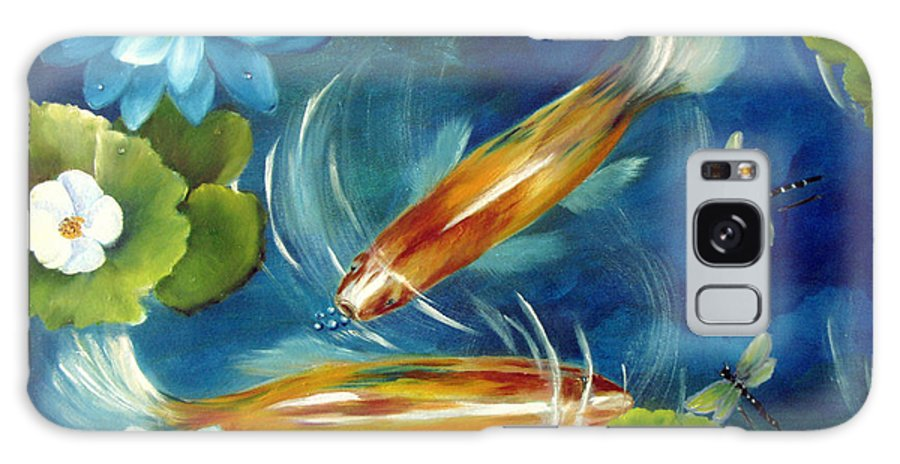 Koi Galaxy S8 Case featuring the painting Bubble Maker by Carol Sweetwood