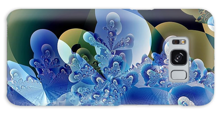 Fractal Art Galaxy S8 Case featuring the digital art Bubbles And Sharp Points by Ron Bissett
