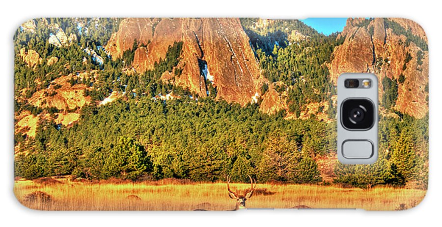Deer Galaxy S8 Case featuring the photograph Buck And Flatirons by Scott Mahon