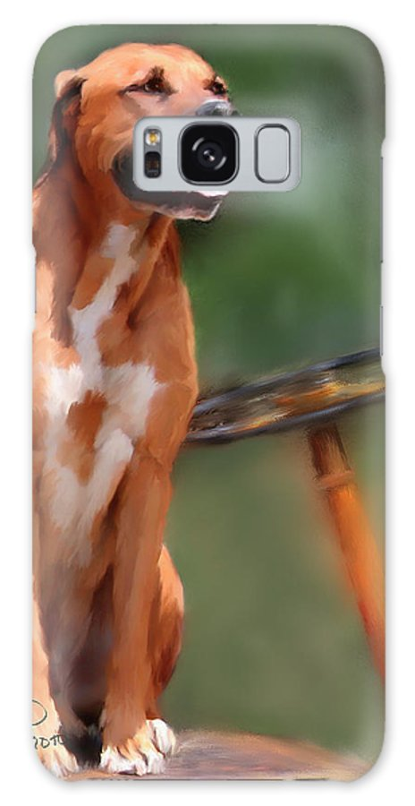 Dog Galaxy S8 Case featuring the painting Buck by Colleen Taylor