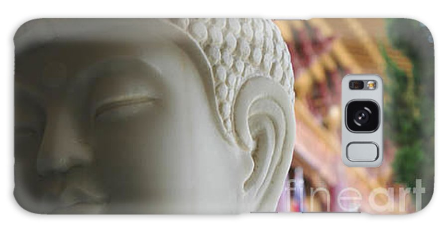Zen Galaxy Case featuring the photograph Buddha At Hsi Lai Temple by Michael Ziegler