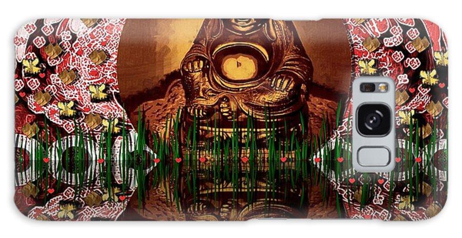 Buddha Galaxy S8 Case featuring the mixed media Buddha Garden by Pepita Selles