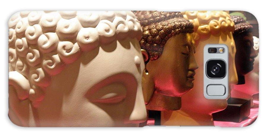 Buddha Galaxy S8 Case featuring the photograph Buddha Heads by Nora Martinez