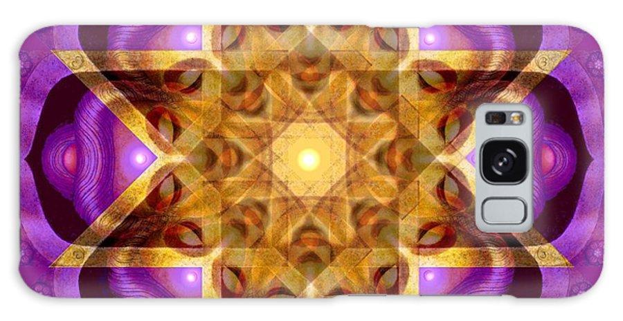 Buddha Galaxy S8 Case featuring the painting Buddha Mandala by Sue Halstenberg