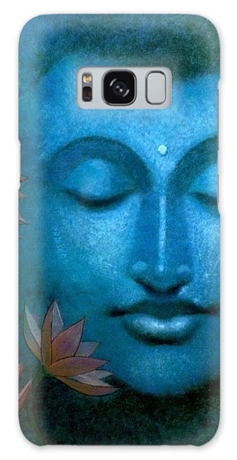 Portrait Galaxy S8 Case featuring the painting Buddha by Priyanka Ray