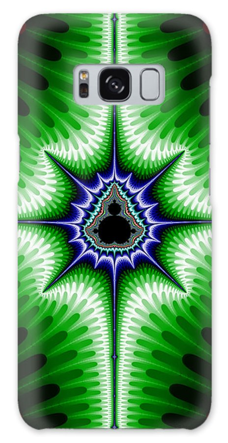 Fractal Galaxy S8 Case featuring the digital art Buddha Star 1 by Robert E Alter Reflections of Infinity