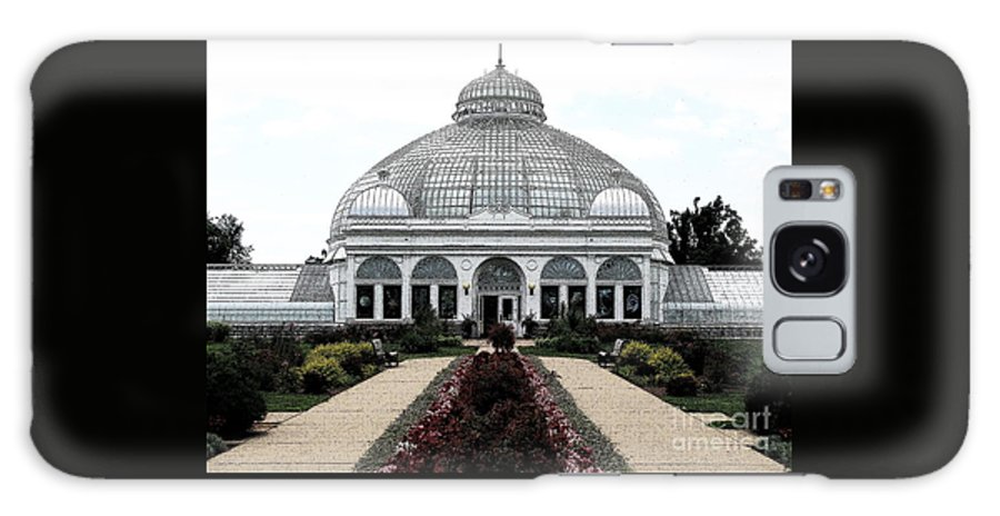 Botanical Gardens Galaxy S8 Case featuring the photograph Buffalo And Erie County Botanical Gardens Ink Sketch Effect by Rose Santuci-Sofranko