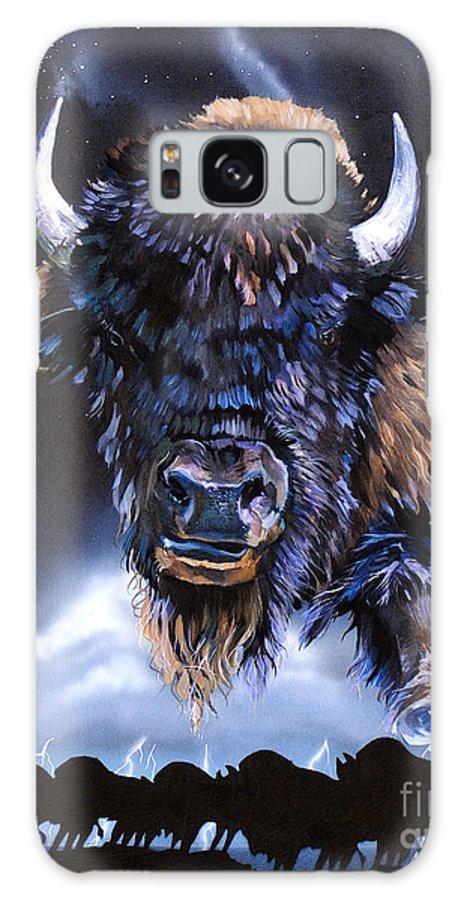Buffalo Galaxy Case featuring the painting Buffalo Medicine by J W Baker