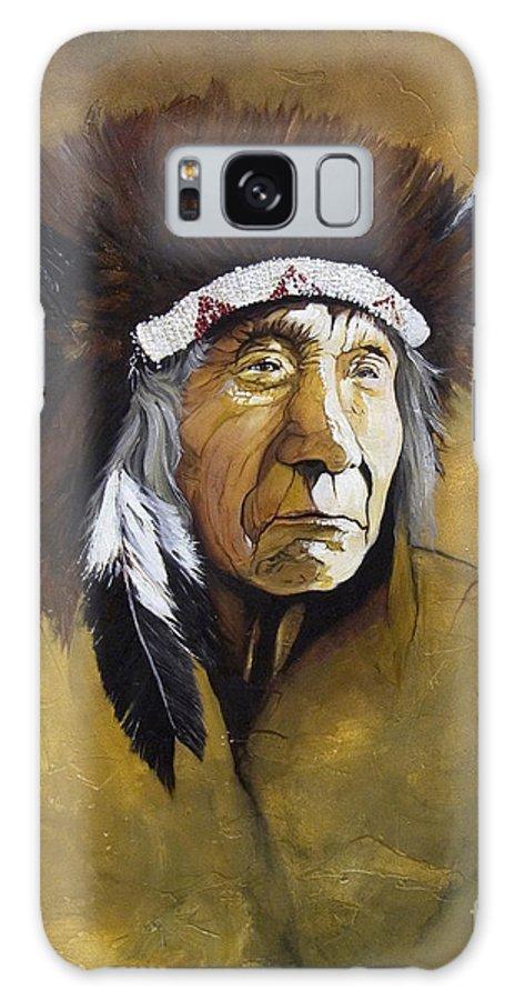 Shaman Galaxy Case featuring the painting Buffalo Shaman by J W Baker