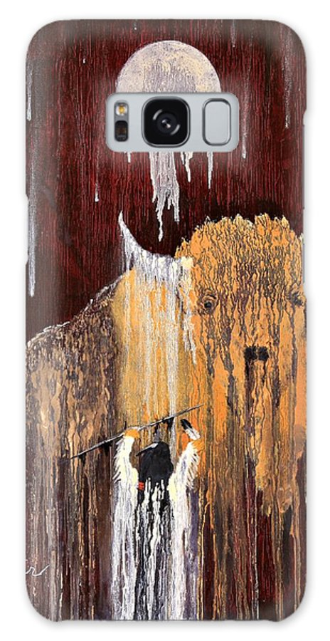 Native Art Galaxy Case featuring the painting Buffalo Spirit by Patrick Trotter