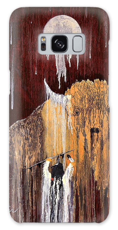 Native Art Galaxy S8 Case featuring the painting Buffalo Spirit by Patrick Trotter