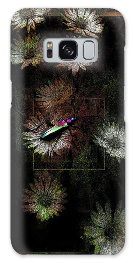 Bug Galaxy S8 Case featuring the digital art Bugged by Mimulux patricia No