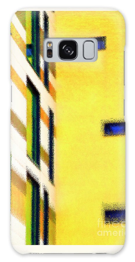 Yellow Galaxy S8 Case featuring the digital art Building Block - Yellow by Wendy Wilton