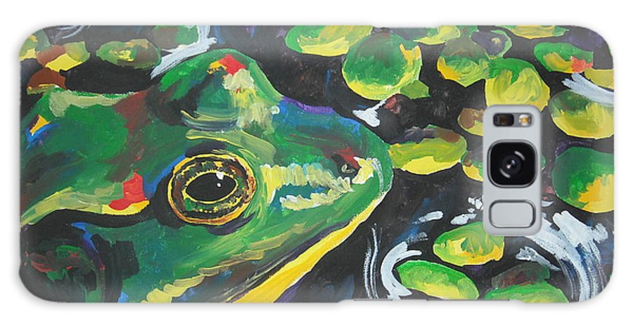 Bullfrog Galaxy Case featuring the painting Bullfrog by Caroline Davis
