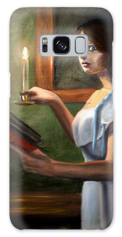 Night Galaxy S8 Case featuring the painting Bump In The Night by Maryn Crawford