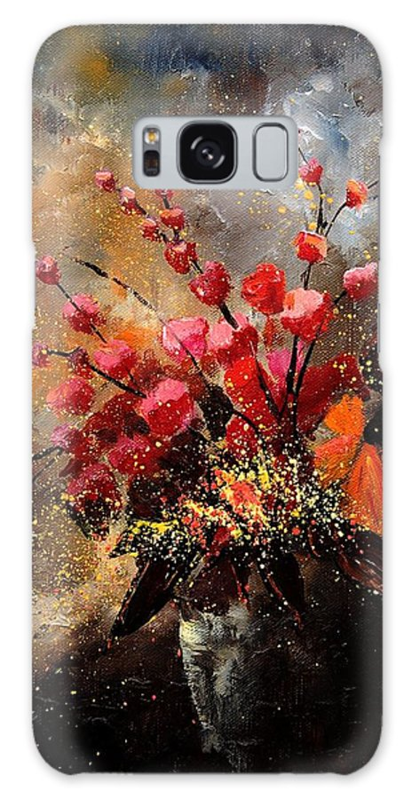 Poppies Galaxy S8 Case featuring the painting Bunch 1207 by Pol Ledent