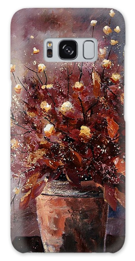 Poppies Galaxy Case featuring the painting Bunch 56 by Pol Ledent