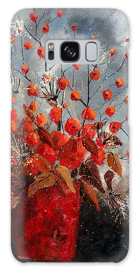 Flowers Galaxy Case featuring the painting Bunch 560608 by Pol Ledent