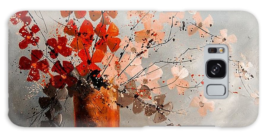 Flowers Galaxy Case featuring the painting Bunch 670908 by Pol Ledent
