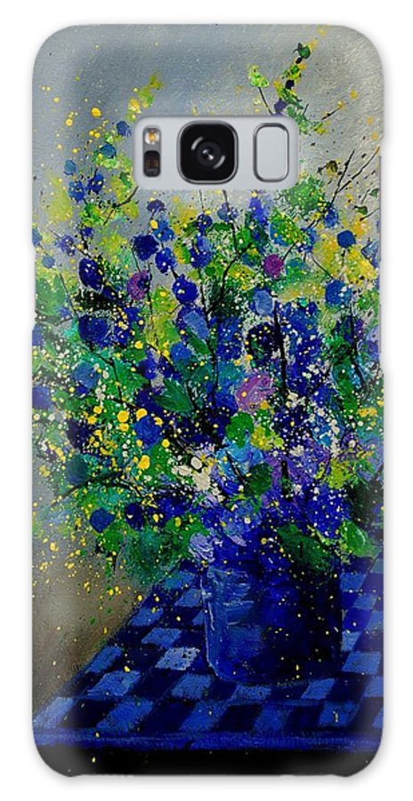 Flowers Galaxy Case featuring the painting Bunch 9020 by Pol Ledent