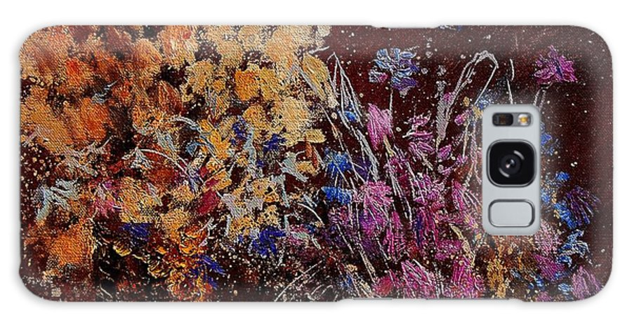 Flowers Galaxy S8 Case featuring the painting Bunch Of Dried Flowers by Pol Ledent