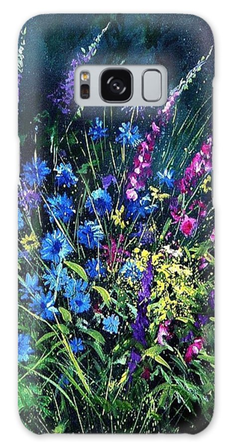 Poppies Galaxy S8 Case featuring the painting Bunch Of Wild Flowers by Pol Ledent