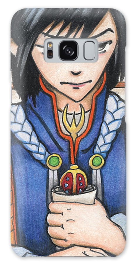 Atc Galaxy S8 Case featuring the drawing Burden Of The Secret Scroll by Amy S Turner