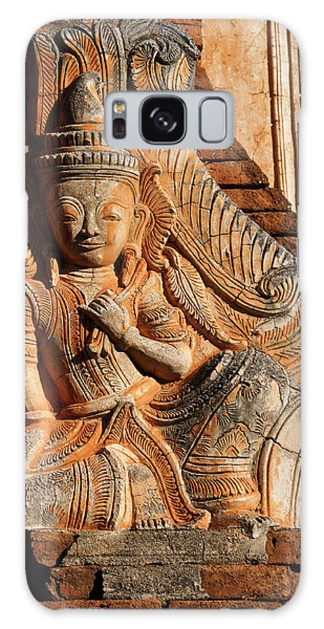 Asia Galaxy S8 Case featuring the photograph Burmese Pagoda Sculpture by Michele Burgess