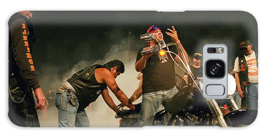 Biker Galaxy Case featuring the photograph Burn Out by Skip Hunt