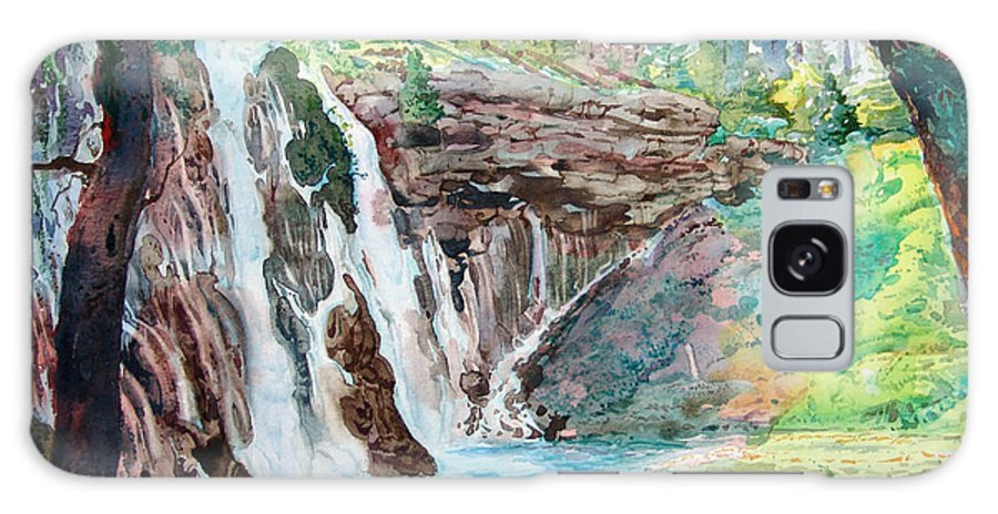 Watercolor Galaxy S8 Case featuring the painting Burney Falls by John Norman Stewart