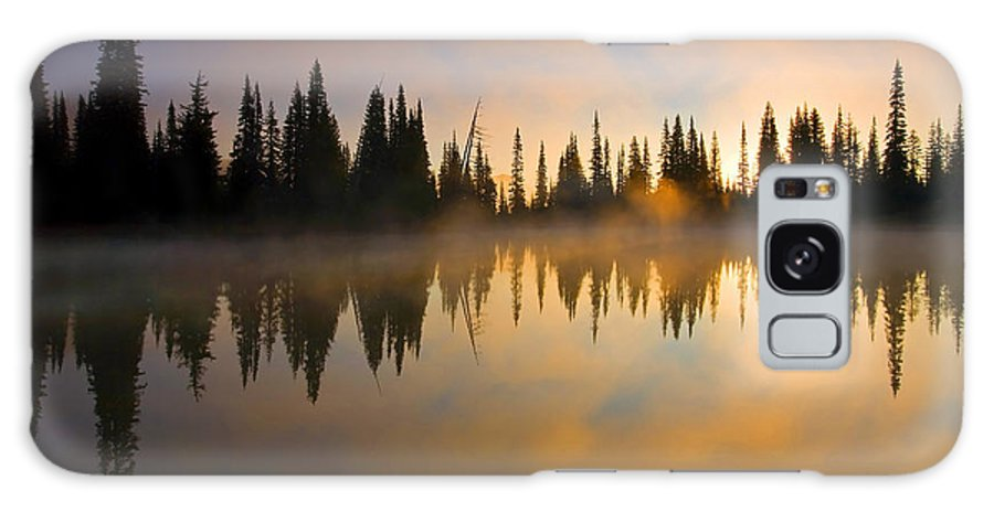 Lake Galaxy Case featuring the photograph Burning Dawn by Mike Dawson