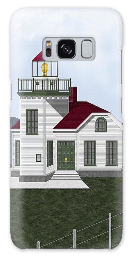 Burrows Island Lighthouse Galaxy S8 Case featuring the painting Burrows Island Lighthouse by Anne Norskog