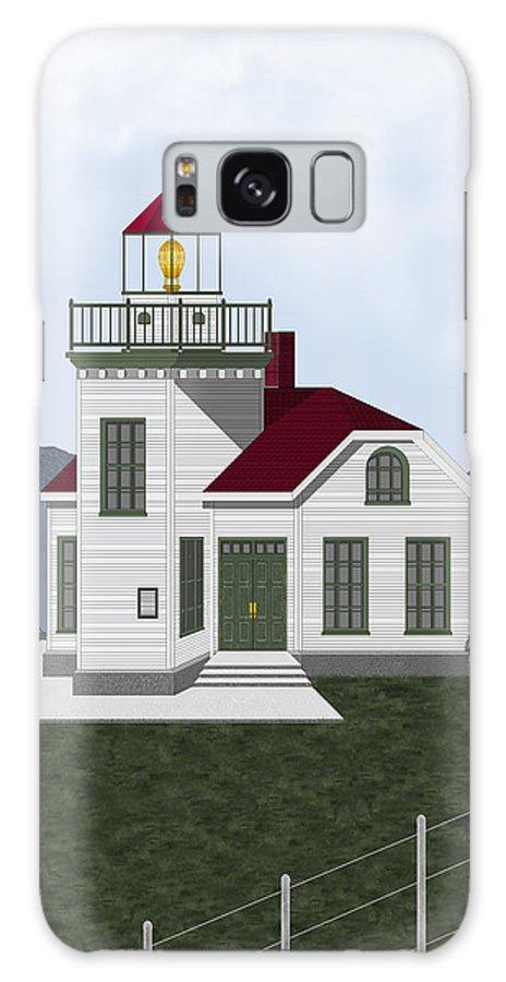 Burrows Island Lighthouse Galaxy S8 Case featuring the painting Burrows Island Lighthouse by Anne Norskog