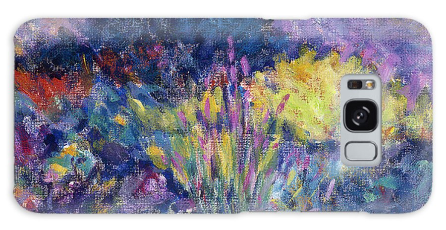 Impressionism Galaxy S8 Case featuring the painting Burst Of Color-last Night In Monets Gardens by Tara Moorman