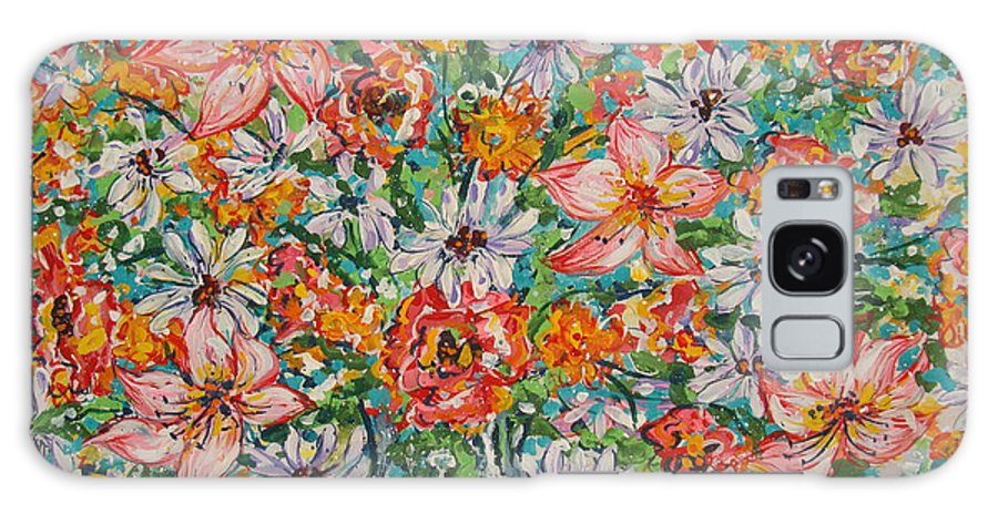 Flowers Galaxy S8 Case featuring the painting Burst Of Flowers by Leonard Holland