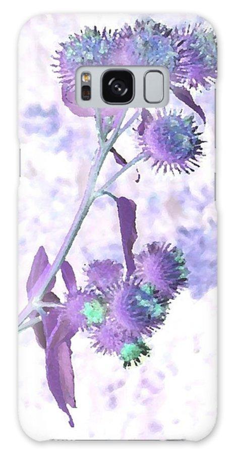 Plant Galaxy Case featuring the digital art Bush Of Burdock by Dr Loifer Vladimir