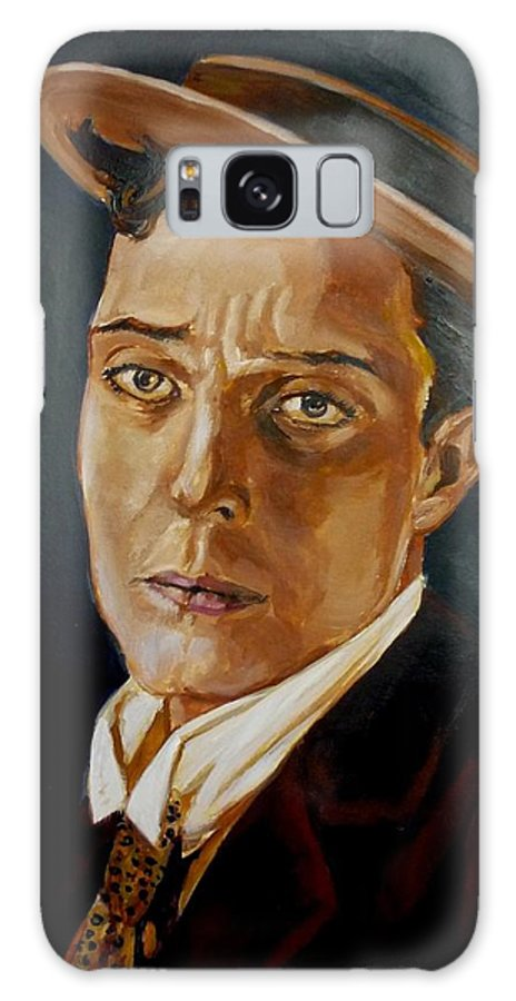 Comedy Galaxy Case featuring the painting Buster Keaton Tribute by Bryan Bustard