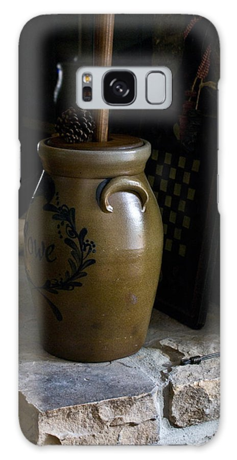 Butter Galaxy S8 Case featuring the photograph Butter Churn On Hearth Still Life by Douglas Barnett