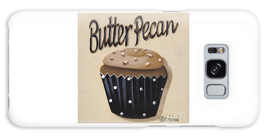 Catherine Holman Galaxy S8 Case featuring the painting Butter Pecan Cupcake by Catherine Holman
