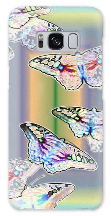Butterflies Galaxy S8 Case featuring the photograph Butterflies In The Vortex by Tim Allen
