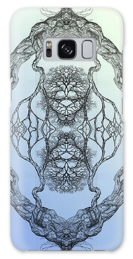 Tree Framed Prints Framed Prints Drawings Galaxy S8 Case featuring the digital art Butterflies Tree 16 Hybrid 3 by Brian Kirchner