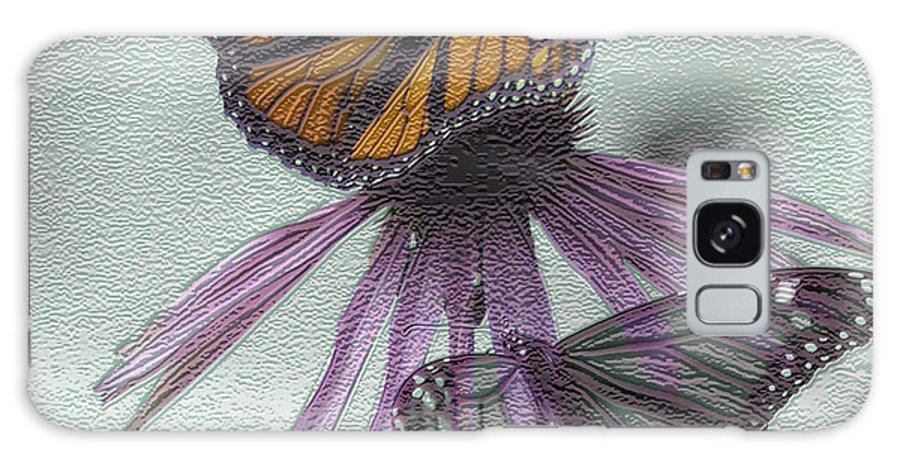 Butterflies Galaxy S8 Case featuring the digital art Butterflies Under Glass by Evelyn Patrick