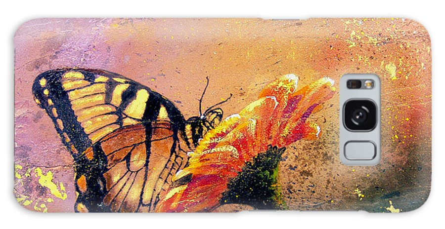 Nature Galaxy S8 Case featuring the painting Butterfly by Andrew King
