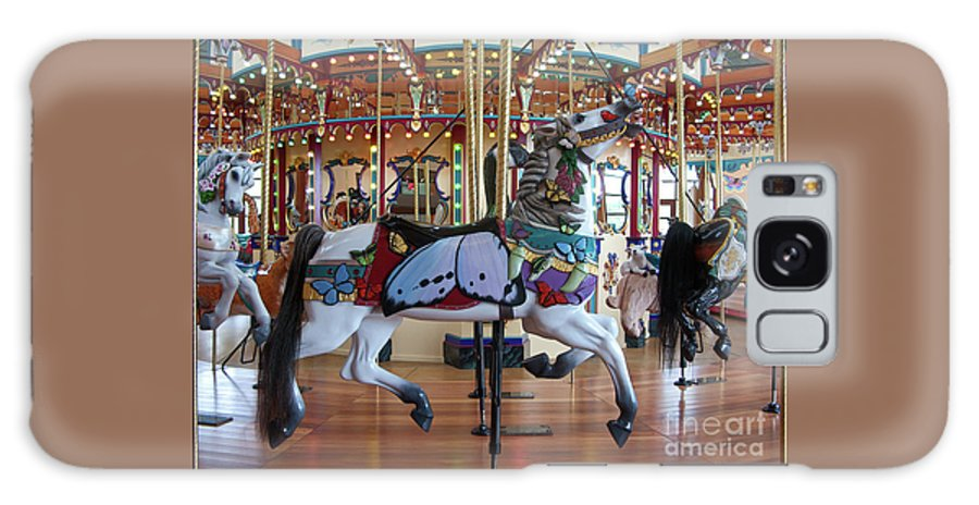 Carousel Galaxy S8 Case featuring the photograph Butterfly Horse by Ann Horn